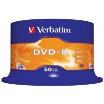DVD-R 4,7 GB 16x120 MIN. CAMPANA 50 PZ.
