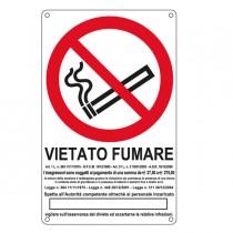 CARTELLO ALLUMINIO 27x43cm 'VIETATO FUMARE''