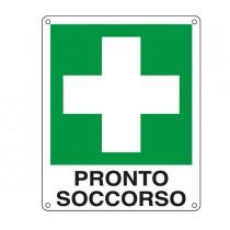 CARTELLO ALLUMINIO 12x14,5cm 'PRONTO SOCCORSO'