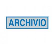 TARGHETTA ADESIVA 165x50mm ARCHIVIO