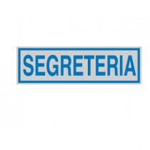 TARGHETTA ADESIVA 165x50mm SEGRETERIA
