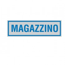 TARGHETTA ADESIVA 165x50mm MAGAZZINO