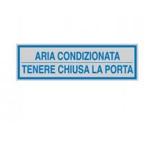 TARGHETTA ADESIVA 165x50mm ARIA CONDIZIONATA ...