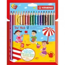 Astuccio 18 pastelli Trio Thick colori assortiti STABILO