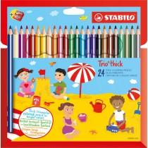 Astuccio 24 pastelli Trio Thick colori assortiti STABILO