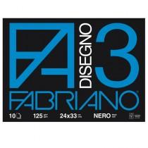 ALBUM 3 NERO (24X33CM) FG 10 125GR FABRIANO