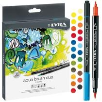 Astuccio 24 pennarelli Aqua Brush Duo LYRA