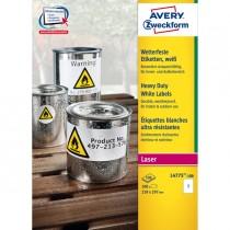 Poliestere adesivo L4775 bianco 100fg A4 210x297mm (1et-fg) laser Avery