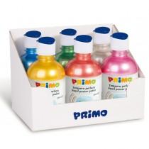Box 6 tempera colori perlati 300ml colori assortiti PRIMO