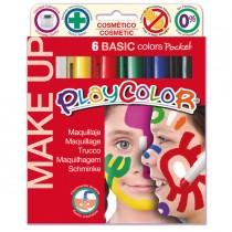 MAKE UP TEMPERA SOLIDA PLAYCOLOR ASTUCCIO CON 6 COLORI BRILLANTI