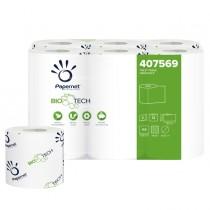 Pacco 12RT carta igienica classica 2veli 18,2mt 165 strappi BioTech Papernet