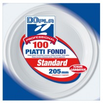 100 PIATTI FONDI Ø 205mm Dopla Professional