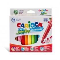 Astuccio 12 pennarelli Jumbo lavabili colori assortiti CARIOCA