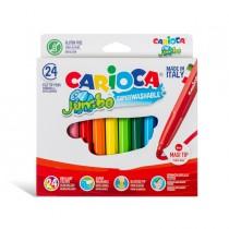 Astuccio 24 pennarelli Jumbo lavabili colori assortiti CARIOCA
