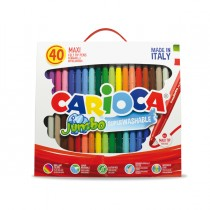 Valigetta 40 pennarelli Jumbo lavabili colori assortiti CARIOCA