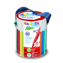 Barattolo 50 pennarelli Jumbo lavabili colori assortiti CARIOCA