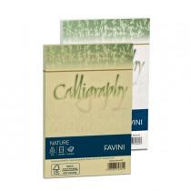 25 buste CALLIGRAPHY NATURE 120gr 120x180mm mandorla FAVINI