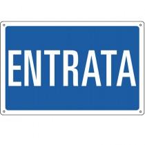 CARTELLO ALLUMINIO 30x20cm 'Entrata'