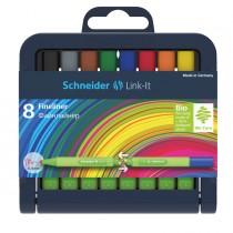 Astuccio 8 fineliner LINK-IT 0,4mm colori ass. SCHNEIDER