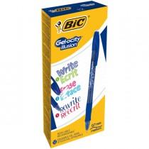 Scatola 12 penna sfera gel cancellabile GELOCITY ILLUSION 0,7mm blu BIC