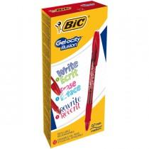 Scatola 12 penna sfera gel cancellabile GELOCITY ILLUSION 0,7mm rosso BIC