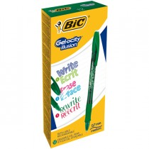 Scatola 12 penna sfera gel cancellabile GELOCITY ILLUSION 0,7mm verde BIC