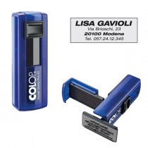 Timbro Pocket Stamp Plus 20 14x38mm 4righe autoinchiostrante blu COLOP
