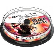 CD-R EMTEC 80MIN-700MB 52x SPINDLE (kit 10pz)