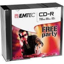 CD-R EMTEC 80MIN-700MB 52X SLIM CASE (kit 10pz)