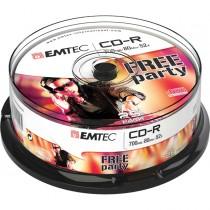 CD-R EMTEC 80MIN-700MB 52x SPINDLE (kit 25pz)