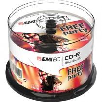 CD-R EMTEC 80MIN-700MB 52x SPINDLE (50pz)