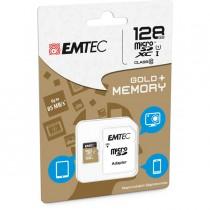MICRO SDXC EMTEC 128GB CLASS 10 GOLD _ CON ADATTATORE