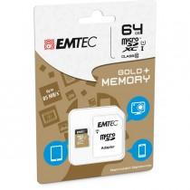 MICRO SDXC EMTEC 64GB CLASS 10 GOLD _ CON ADATTATORE