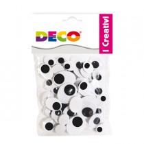 Occhietti adesivi ovali busta da 50pz misure assortite DECO