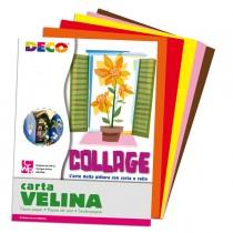Busta di carta velina 25fg 50x76cm 5 colori caldi assortiti DECO