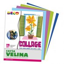 Busta di carta velina 25fg 50x76cm 5 colori freddi assortiti DECO