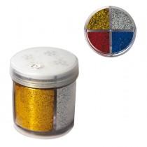 Glitter dispenser grana fine 40ml 4 colori assortiti DECO