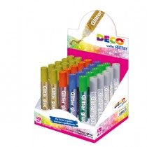 Display colla glitter 30 penne 10,5ml colori assortiti metal DECO