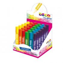 Display colla glitter 30 penne 10,5ml colori assortiti pastello DECO