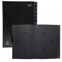 Classificatore alfabetico A-Z Ordonator per A4 nero 25x33cm Exacompta