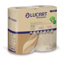 Pacco 4 rotoli Carta Igienica 400 strappi EcoNatural Lucart