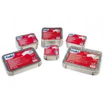 Pack 50 Contenitori alluminio 2 Porzioni _ coperchio Cuki