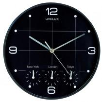 Orologio da parete Ø30,5cm con 4 fusi On Time Unilux