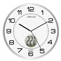 Orologio da parete Ø30,5cm con termometro Tempus Unilux
