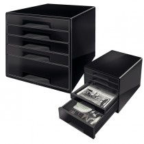 Cassettiera drawer Cabinet CUBE 5 nero Leitz