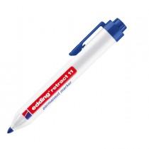 Marcatore permanente 11 Retract punta conica blu Edding