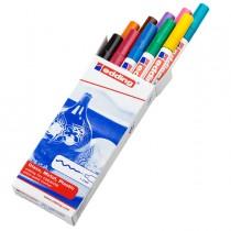 Astuccio 10 marcatori Edding 751 punta fine vernice colori assortiti