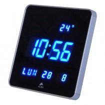 Orologio digitale da parete 28x28x3,4cm Led Alba