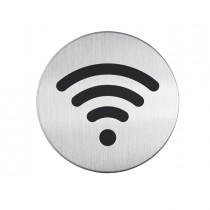 PITTOGRAMMA Ø 8,3cm 'Wi-Fi' IN ACCIAIO