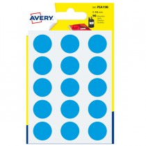 Blister 90 etichetta adesiva tonda PSA blu Ø19mm Avery